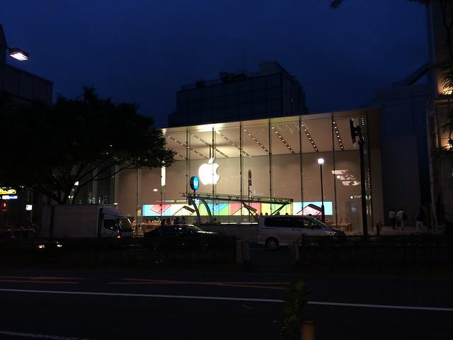 Apple Store, Omotesando before Grand Open