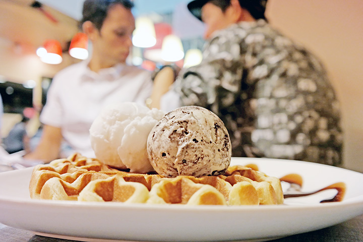 waffles icecream