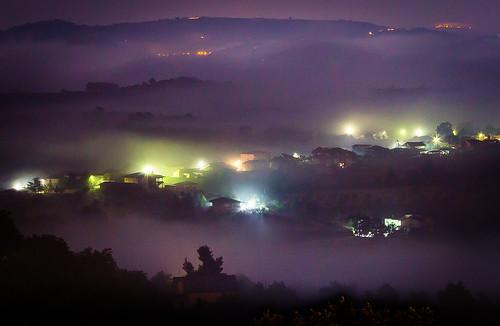 italy fog night canon landscape campania nebbia notte paesaggio benevento notturno 600d sannio paduli
