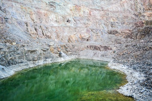 A swim in the green lake of the Brandberg West Mine