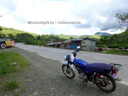The motorcycle we rode around. DDD Habitat Inc. at Lorega, Kitaotao, Bukidnon