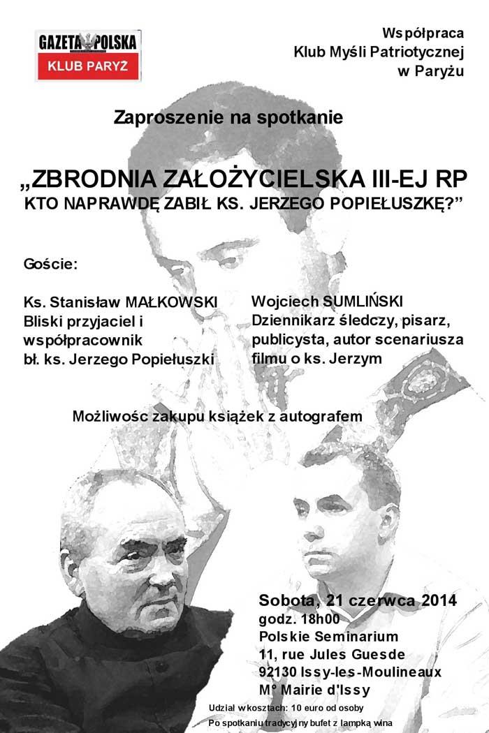 Spotkanie z ks.Stanisławem Małkowskim i Wojciechem Sumlińskim