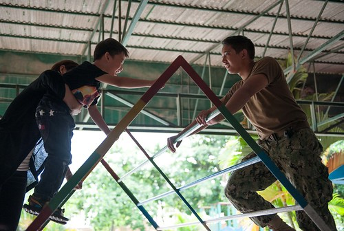 Pacific Partnership Physical Therapists Assist Patients in Cambodian Physical Rehab Center