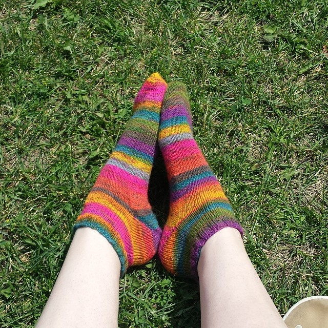 vacation socks are done! #sockknitting