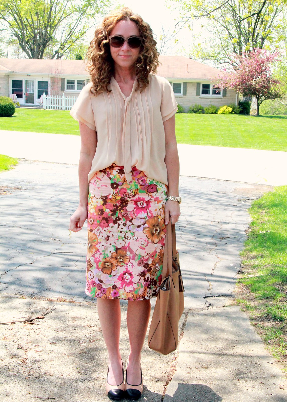 modest Jcrew summer outfit via Kristina J blog
