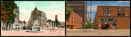 "Cathedral Square - Active urban center vs. desolate wasteland of urban ""renewal"" by Eric Harrison, via I {heart} Rhody"