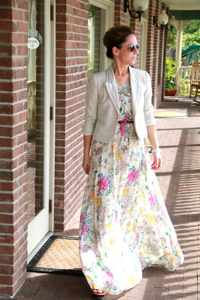 how to style a maxi via Kristina J blog