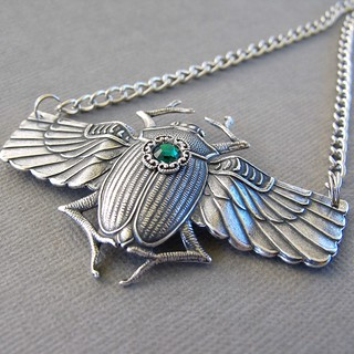 Silver Antique Silver Scarab