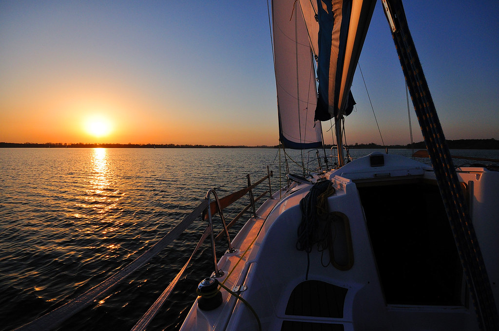 Sailing the great lakes of the mazurian lake district
