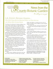 News from the LA County Botanic Garden