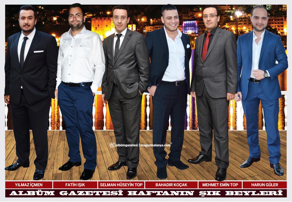 Yılmaz İçmen, Fatih Işık, Selman Hüseyin Top, Bahadır Koçak, Mehmet Emin Top, Harun Güler