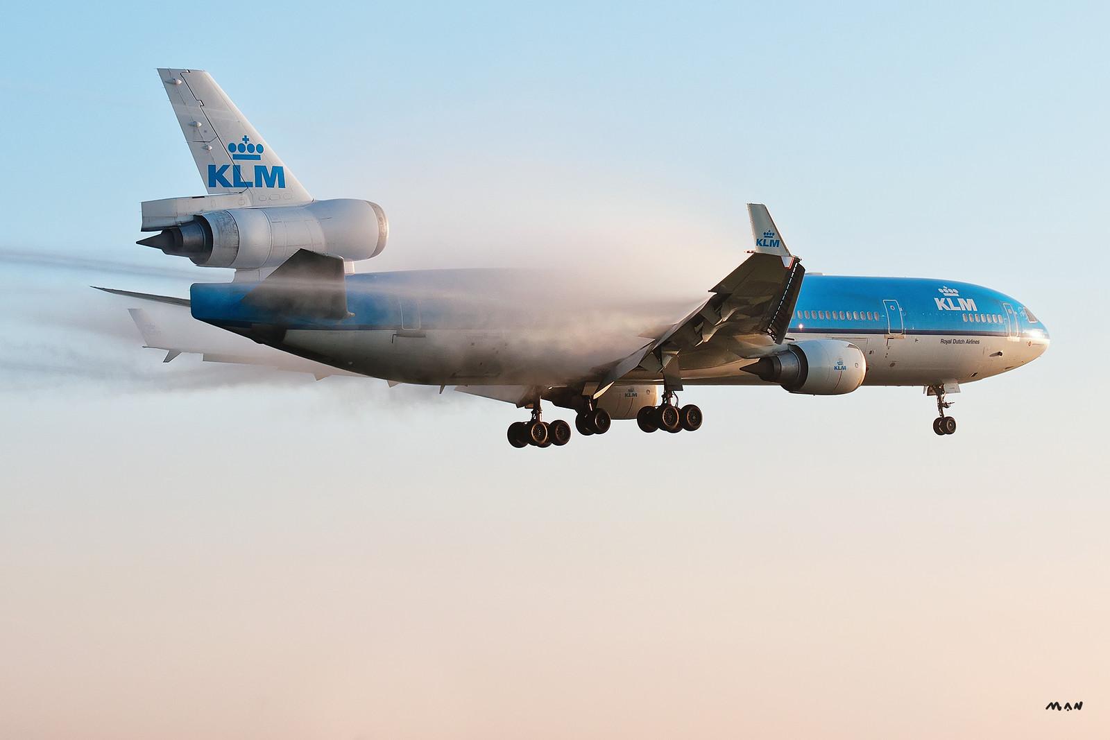 KLM MD11 condesación EHAM