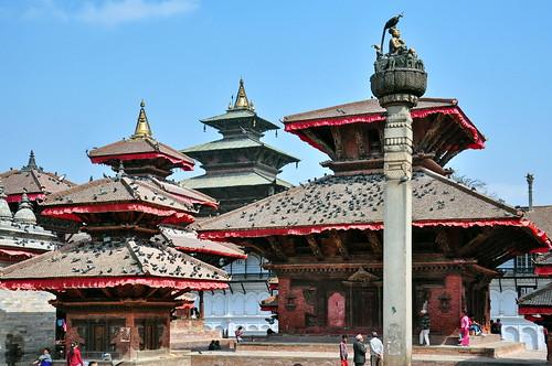 Nepal - Kathmandu - Durbar Square - King Pratap Malla´s Column - 1