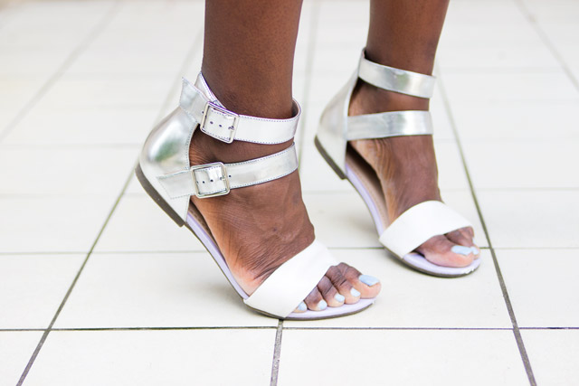 Clarks Polenta Feast metallic sandals