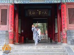 Mon, 07/07/2014 - 16:02 - Shifu Shi Yan you Poses at the Shaolin Temple Entrance Shaolin Kung Fu India