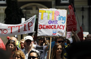 TTIP protest in London - 12/07/2014