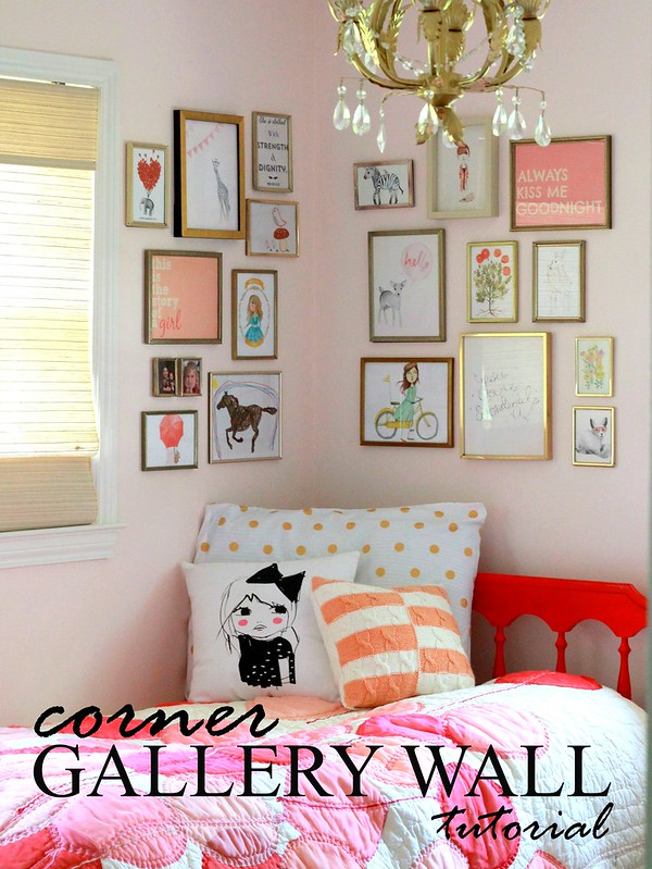 how to style a corner gallery wall via Kristina J blog