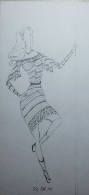 fashion illustration, sketch