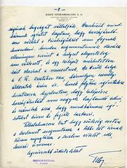 073. Habsburg Ottó levele Bakách-Bessenyey György bárónak a Magyar Nemzeti Bizottmányról