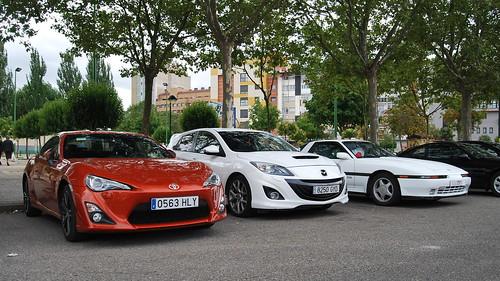 Toyota GT 86, Mazda3 MPS y Toyota Supra