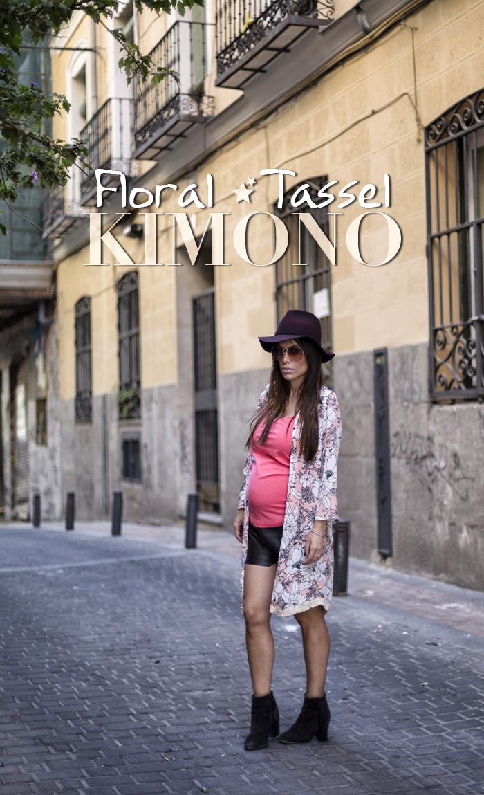 street style barbara crespo floral tassel kimono sheinside sheinsider fashion blogger outfit blog de moda