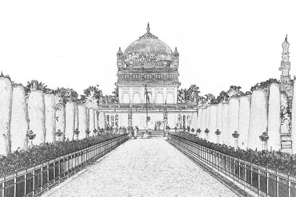 India - Karnataka - Srirangapatna - Gumbaz Mausoleum von Tipu Sultan - 7c