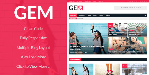 GEM WordPress Theme free download