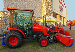 KUBOTA BX2650 Tractor & BX250 Sweeper Attachment, Strawberry Festival