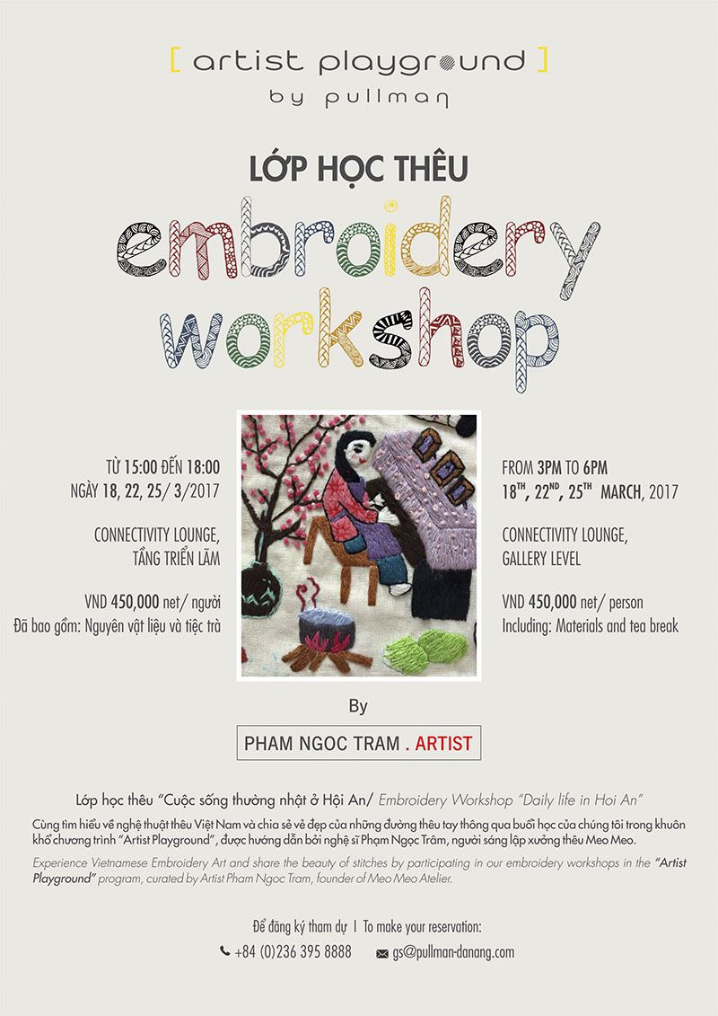 Embroidery workshop by Pham Ngoc Tram Artist at Pullman Danang Beach Resort 1