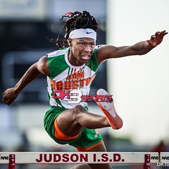 Sam Houston's Hakim Mays during the 110 hurdles at the Wagner T-Birds Relay @_iTSRealityy #ok3sports #TrackNation #trackandfield #sportsphotography