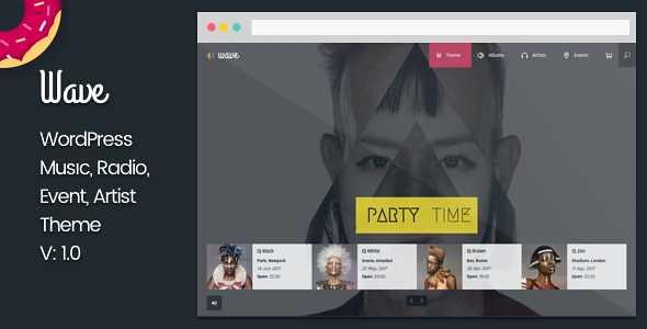 Wave WordPress Theme free download