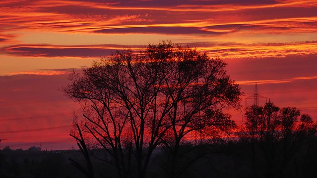 Sonnenuntergang in Grunbach im Remstal