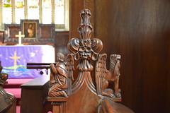 winged man of St Matthew, winged lion of St Mark (19th Century)