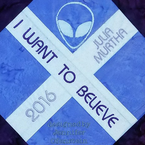 I Want To Believe Quilt Label for Jewells