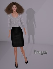 ILAYA Emilia Top and Lisa Leo Pencil Skirt