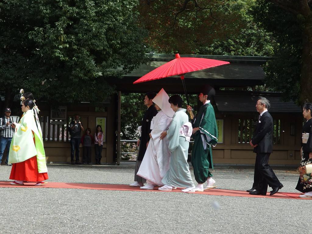 Traditional Japanese Wedding @ Togo Shrine @ Harajuku