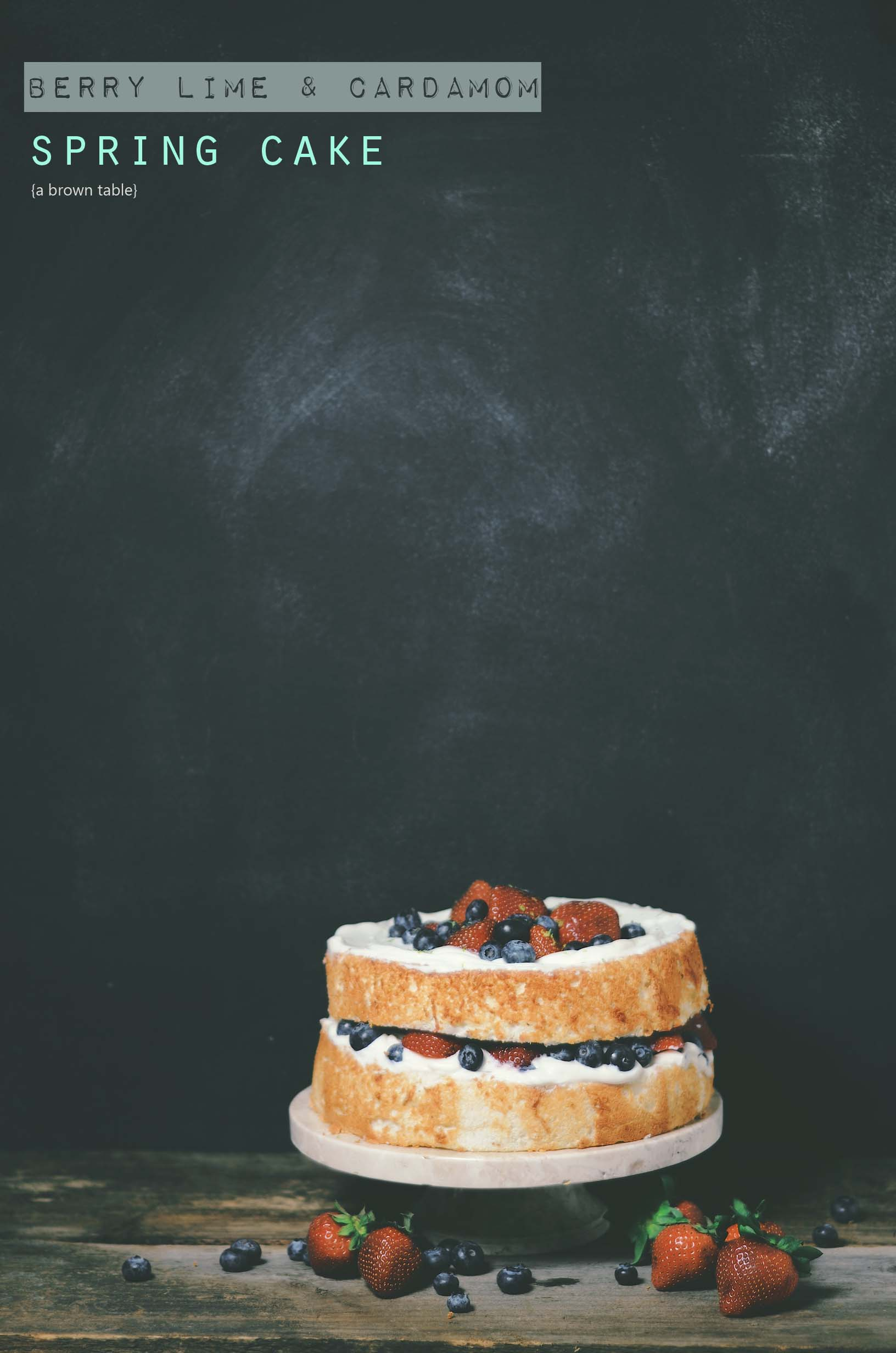 berry lime cardamom cake