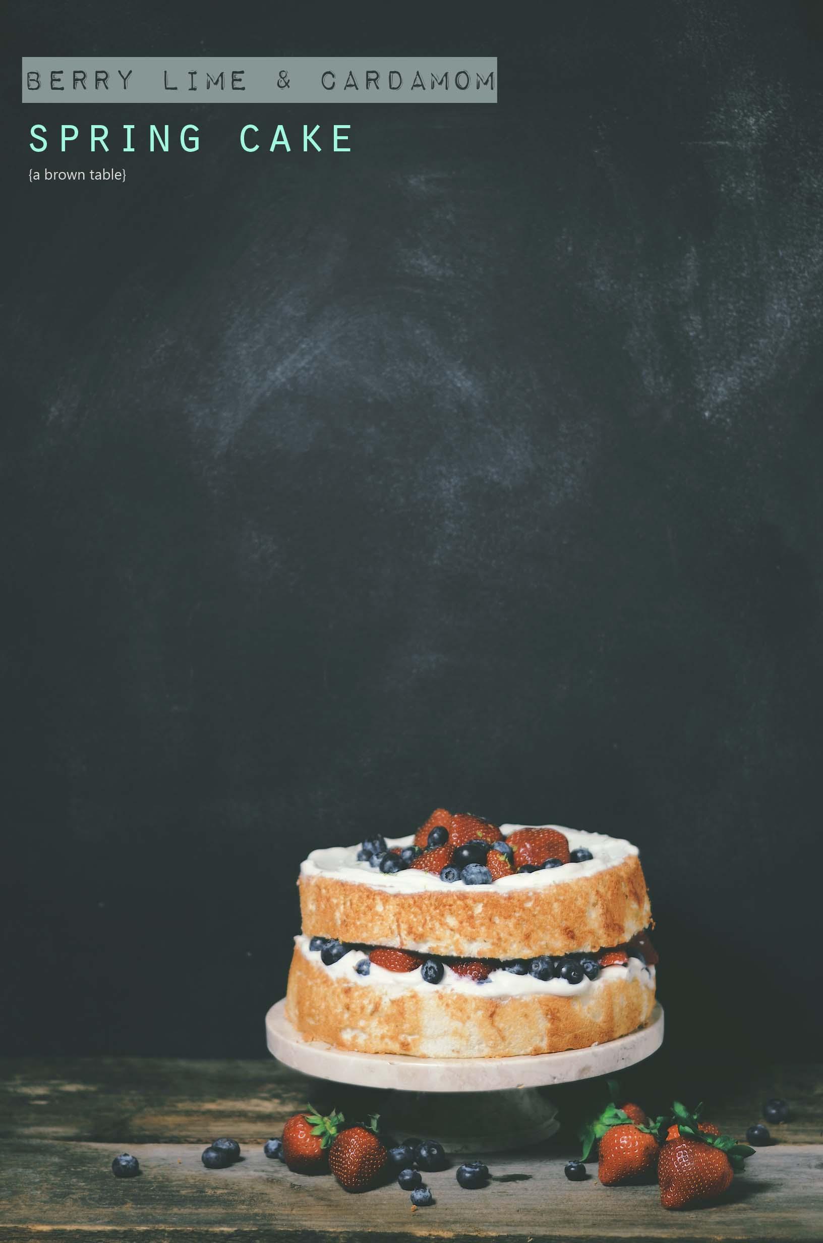berry lime cardamom cake