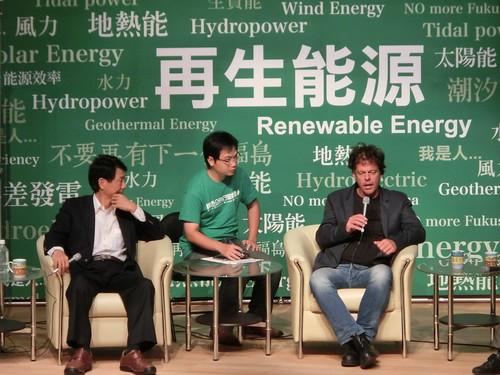 接待綠色和平再生能源專案總監 Sven Teske 訪台,趙家緯提供
