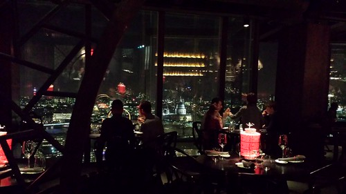 Dining up the Shard