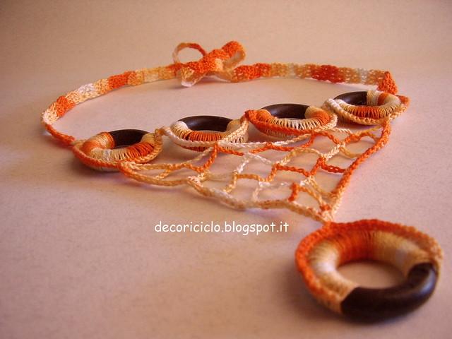 collana di cotone e anelli di legno delle tende 3