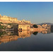 Jaipur IND - Amber Fort and Maota Lake by Daniel Mennerich