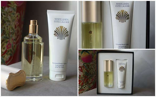 Estee Lauder white linen perfume pack gift body lotion myer australian beauty review blog blogger ausbeautyreview value scent pretty gorgeous floral notes parfum jasmine