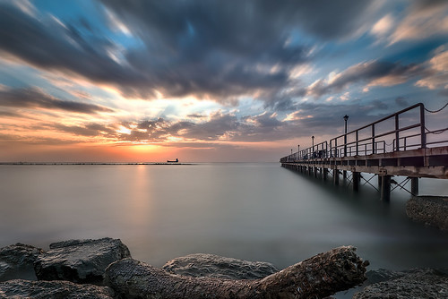 longexposure light sunset seascape clouds sunrise landscape dawn pier day angle cloudy wide dramatic le d800 limassol charlescharalambous limassolbay