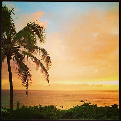 Good morning from Hawaii!! We are here to celebrate John's 40th;)