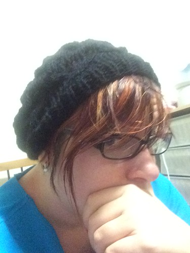 Iron Craft B for Black Beret. My very first cable project!!