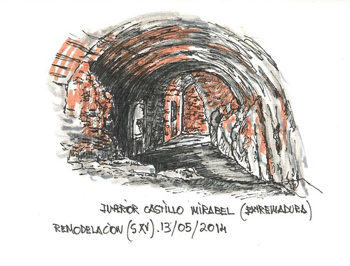 Interior castillo de Mirabel (Cáceres)