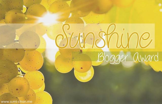 The Sunshine Blogger Award Sumi