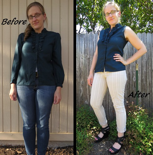 Ruffled Blouse - Before & After