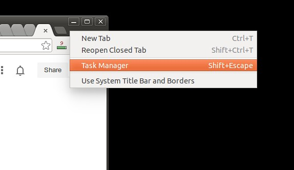How to find the process ID of a Chrome browser tab or